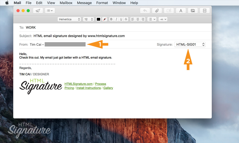 Install HTML email signature in Apple Mail on macOS High Sierra - 10