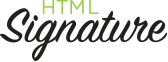 HTML Signature Design Logo