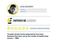 Signature Custom: Empower Me Academy