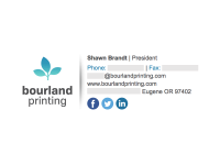 Image on the Left: Bourland Printing
