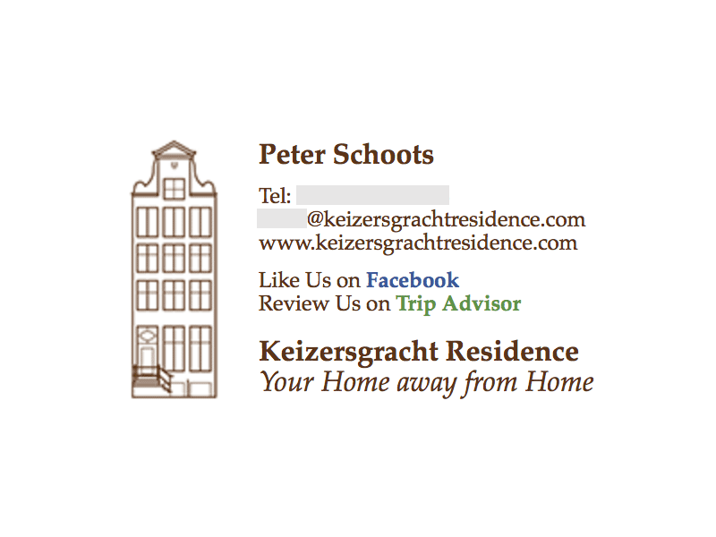 Image on the Left: Keizersgracht Residence