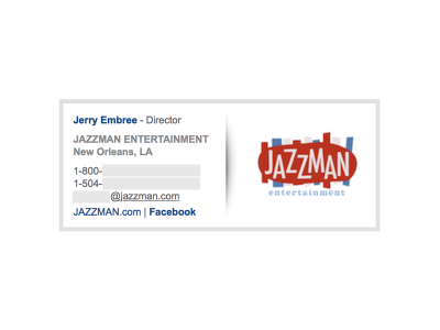 Image on the Right: Jazzman Entertainment