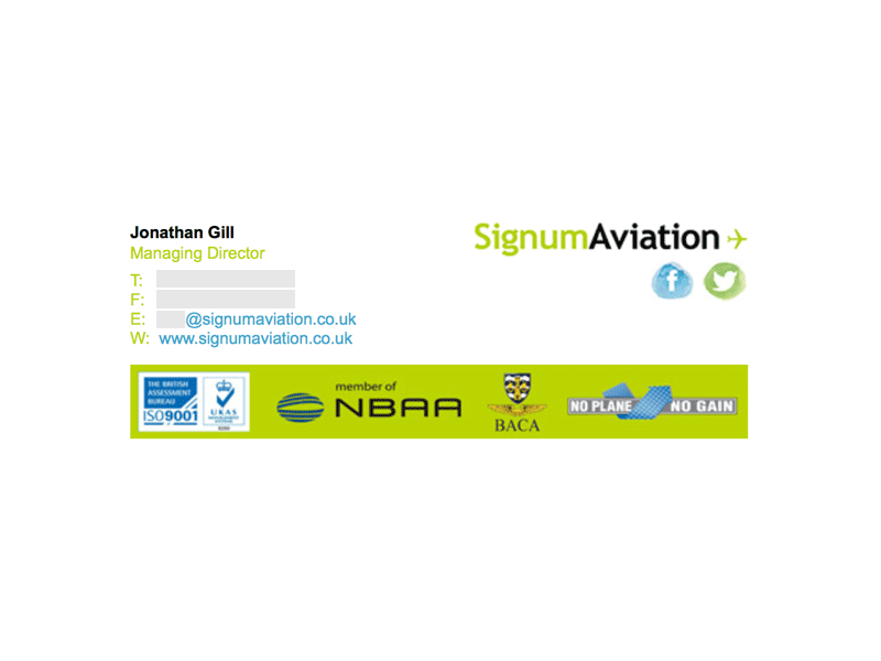 Image on the Right: Signum Aviation