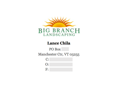 Image on Top: Big Branch Landscaping