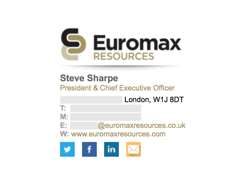 Image On Top: Euromax Resources