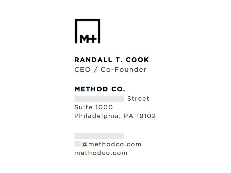 Image On Top: Method Co.