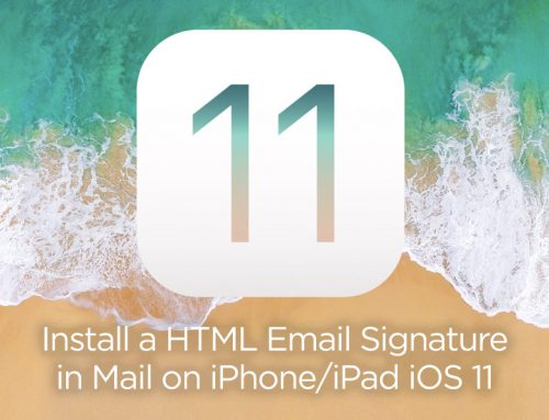 How to create and install a HTML email signature in Mail app on iPhone/iPad iOS 11