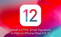 Install HTML email signature in Mail on iPhone and iPad iOS 12 - Cover