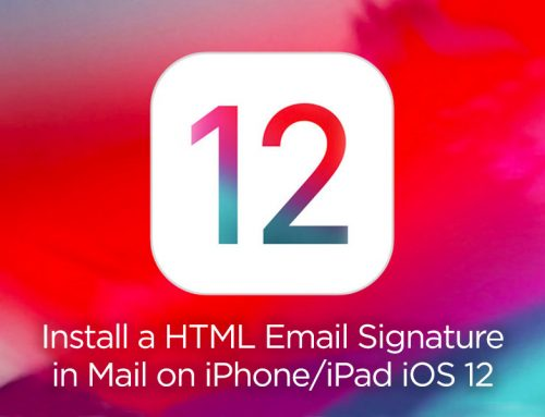 How to create and install a HTML email signature in Mail app on iPhone/iPad iOS 12