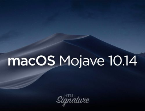 How to create and install a HTML email signature in Apple Mail on macOS Mojave 10.14