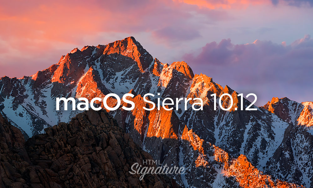 Install HTML email signature in Apple Mail on macOS Sierra 10.12 - Cover
