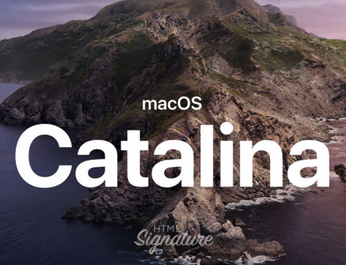 How to create and install a HTML email signature in Apple Mail on macOS Catalina 10.15